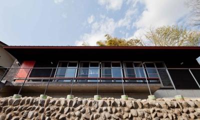 (東京都あきる野市)秋川の3段崖地の家/A棟/B棟 (上段にあるB棟(子世帯の家))