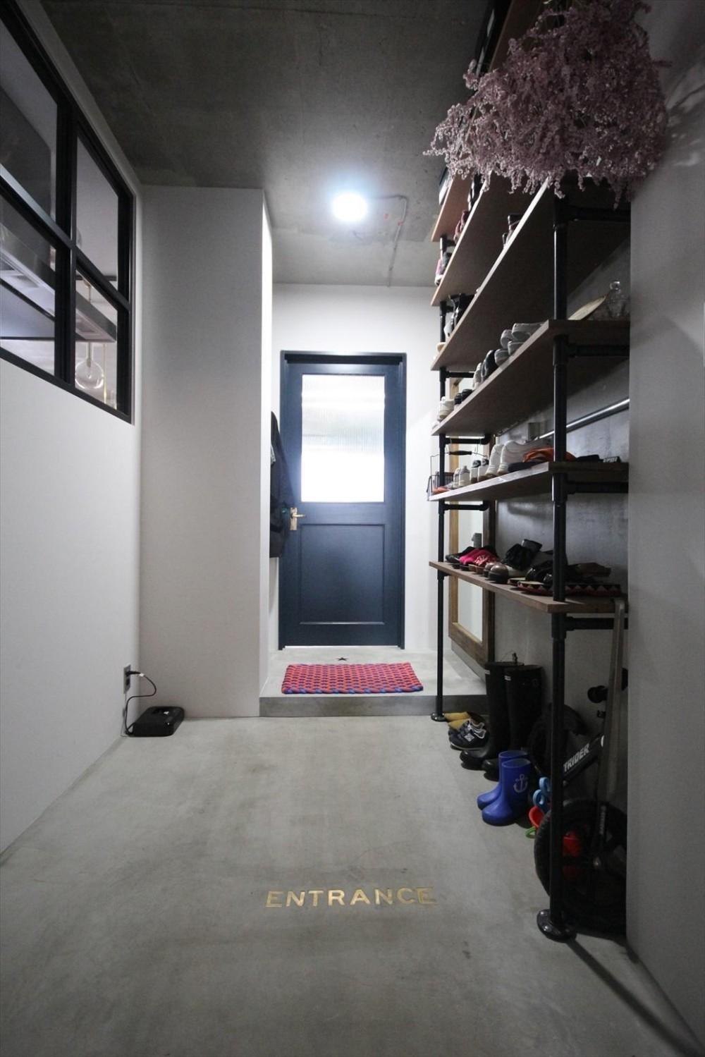 板橋マンションリノベ (玄関)