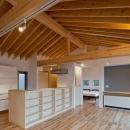(東京都あきる野市)秋川の3段崖地の家/A棟/B棟の写真 (A棟)親世帯の家は介護等を意識して平屋&コンパクトに