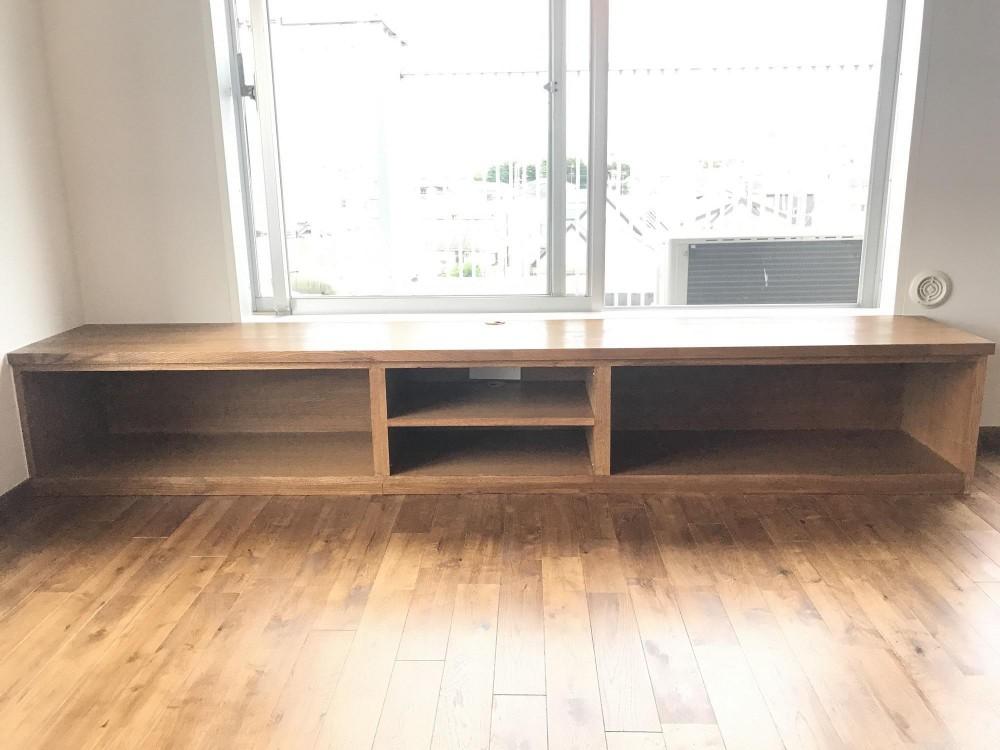 稲田堤マンションリノベーション (テレビボード)