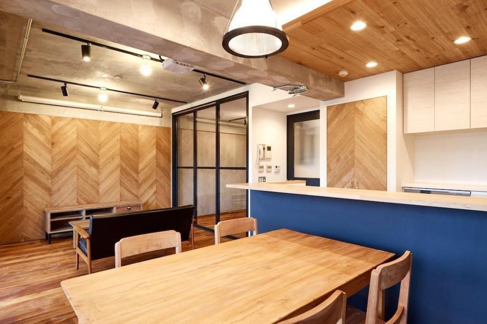 Living Dining Room (ラフで無骨な男前な空間)