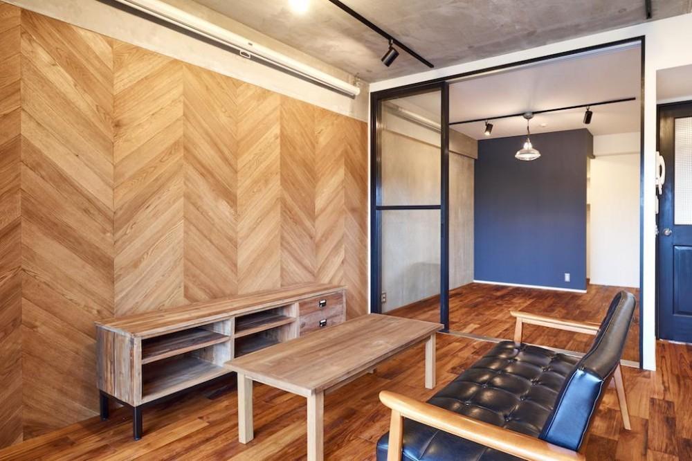 ラフで無骨な男前な空間 (Living Room)