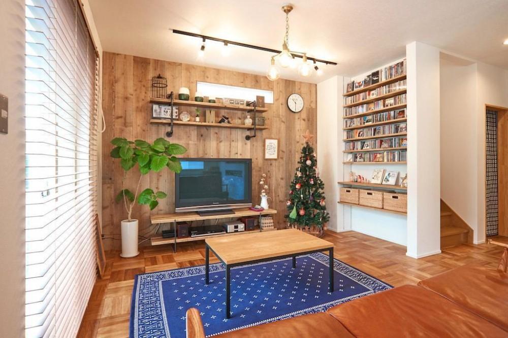 素材感を楽しむこだわりの住まい (Living Room)