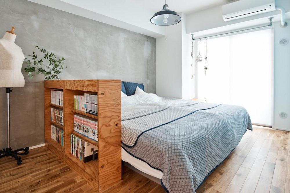 素材感が溢れるインダストリアルな空間 (Bed Room)