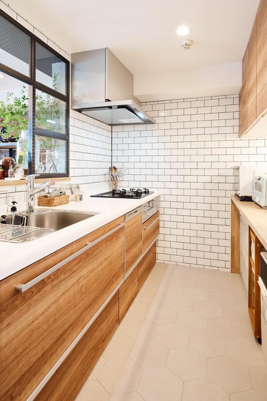 素材感が溢れるインダストリアルな空間 (Kitchen)