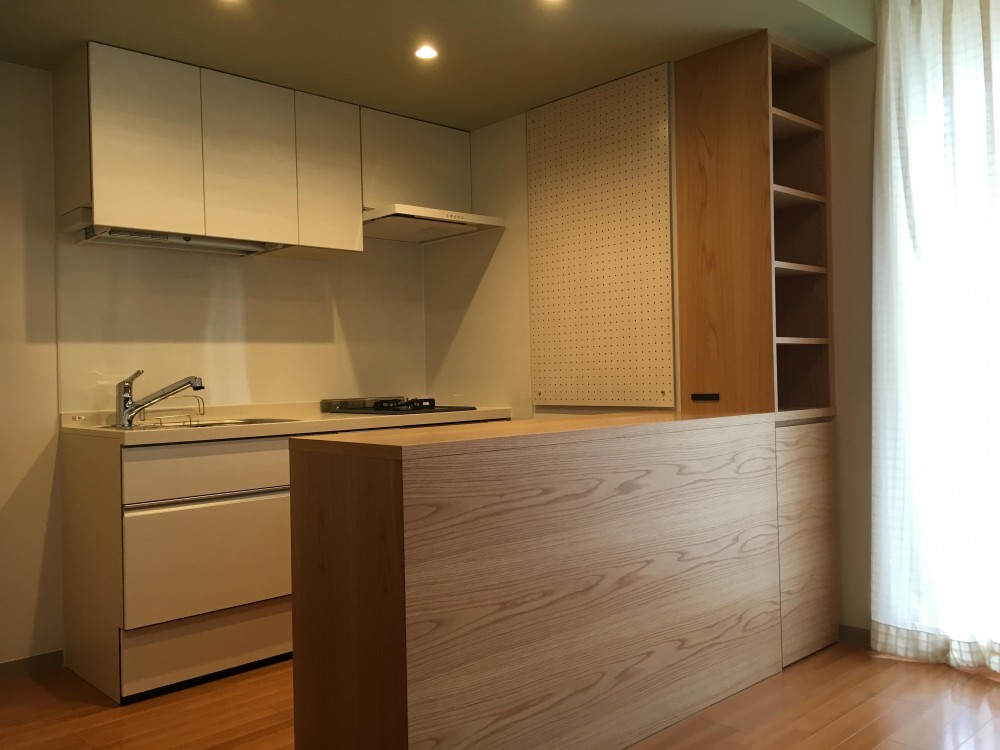 アフター写真01 (クローズキッチンをオープンキッチンに)