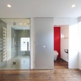 広尾の家 (洗面室~トイレ)