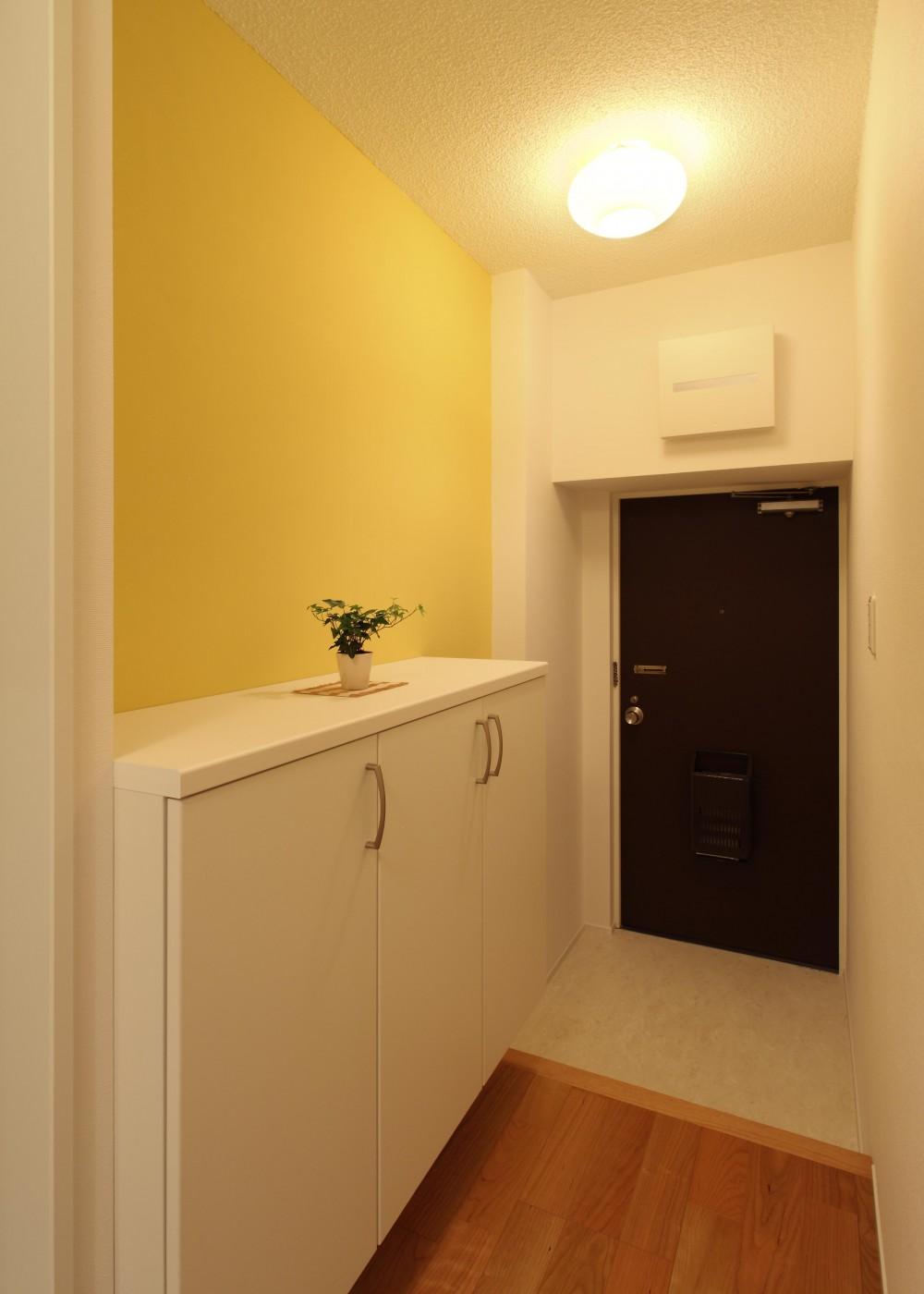 内装に拘ったLDK空間でひとり暮らしをとことん楽しむ。 (玄関)