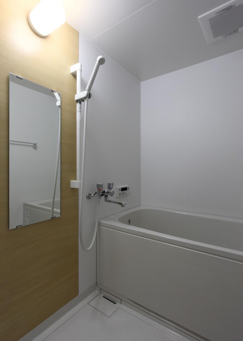 内装に拘ったLDK空間でひとり暮らしをとことん楽しむ。 (バスルーム)