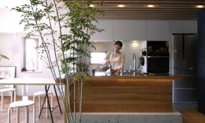 千葉県船橋市『私たちの家』 (家具のようなおもてなしのキッチン)
