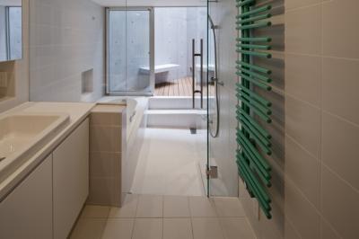 東松原のコーポラティブハウスA (洗面室)