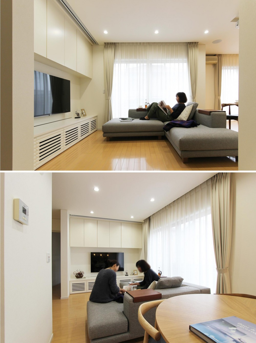 カフェのようにくつろげる空間…《オーダーキッチン》 (ゆったりと寛ぐリビング空間)