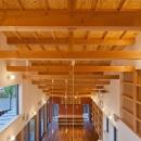(東京都あきる野市)武蔵増戸のR屋根の家の写真 フィーデンレール梁がリズミカルな構造体