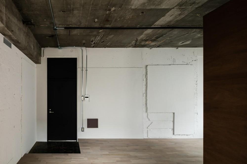 しかくの部屋Ⅰ (塗装した既存壁面。)