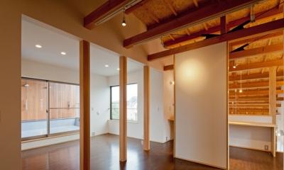 (東京都あきる野市)武蔵増戸のR屋根の家 (2階は将来を考慮してフレキシブルに使える様に配慮)