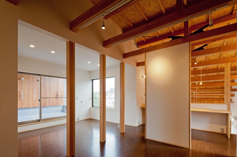(東京都あきる野市)武蔵増戸のR屋根の家の部屋 2階は将来を考慮してフレキシブルに使える様に配慮