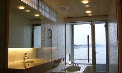 SEE SEA HOUSE  (海が見える家) (浴室・洗面脱衣室)