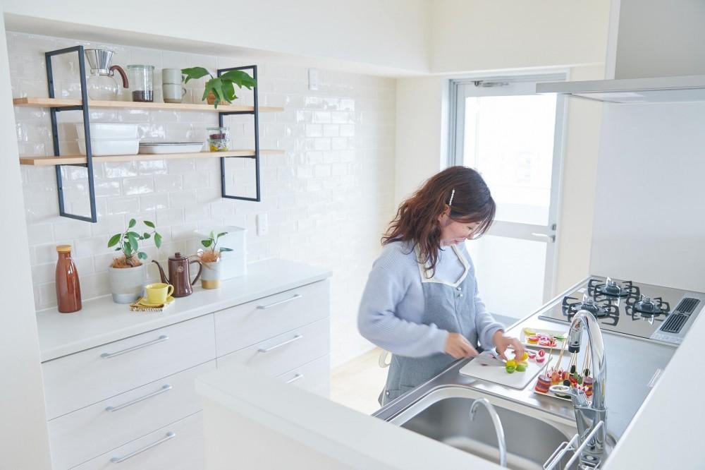 料理好きおとな女子がつくるキュートなワガママ住空間 (キッチン)