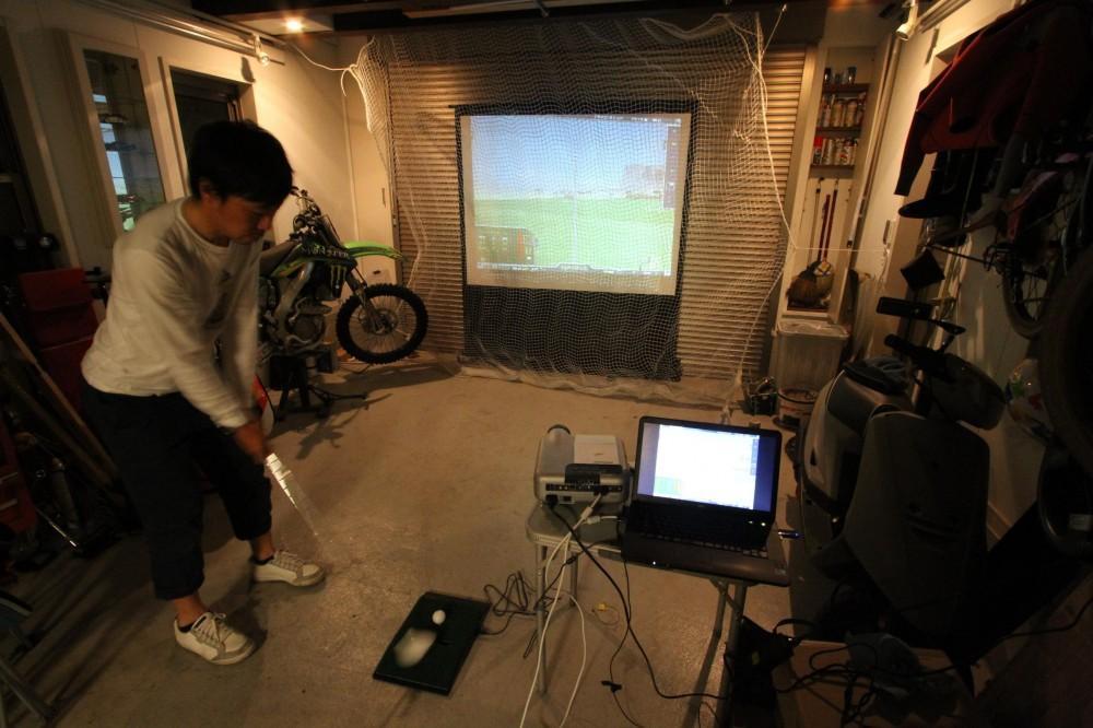 川越市 D邸 ガレージハウス (ガレージでシミュレーションゴルフ!)