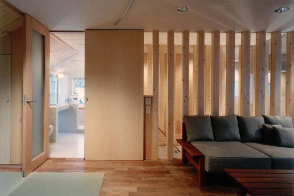 二世帯住宅に変える鉄骨造のリノベーション (リビングの壁)