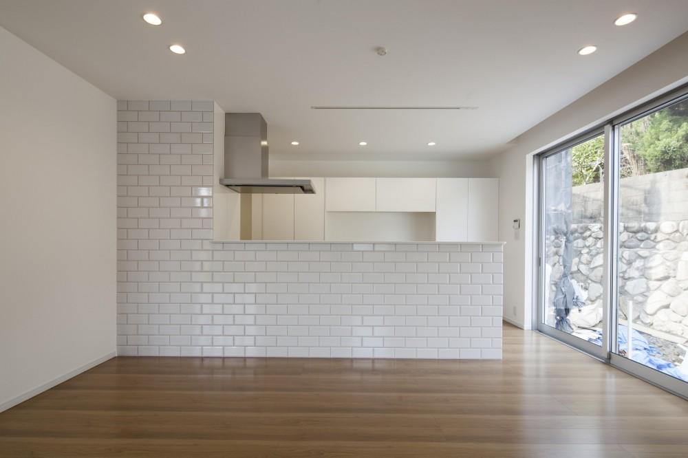 格子と白の邸 (ホワイトキッチン)