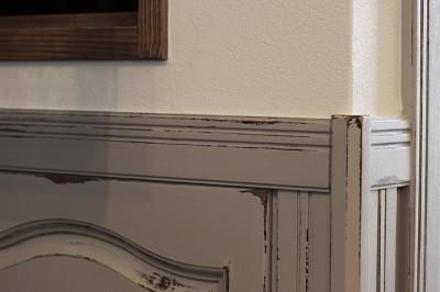 LDK改装・プロヴァンスの雰囲気漂う大人空間 (腰壁のエイジング加工)