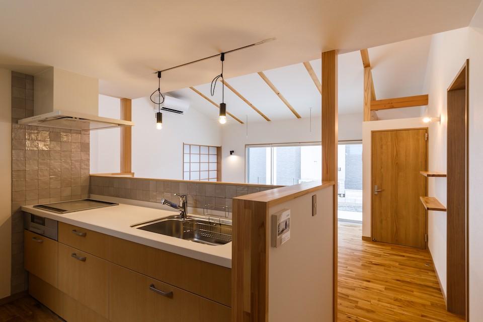 キッチン事例:キッチン(郡山・静町の平屋)