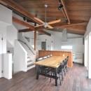 アートテラスホームの住宅事例「8人掛けダイニングテーブルから眺める家」