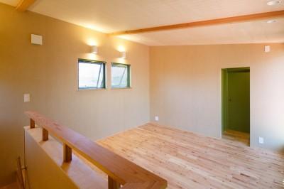 2階の予備室 (庭を囲むL型の家〜診療室付 一戸建住宅)