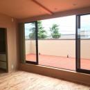 庭を囲むL型の家〜診療室付子建住宅の写真 2階予備室