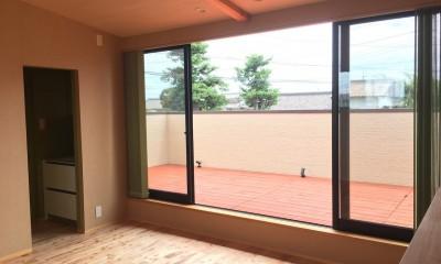 庭を囲むL型の家〜診療室付 一戸建住宅 (2階予備室)