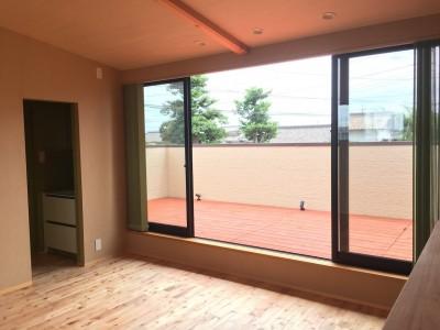 2階予備室 (庭を囲むL型の家〜診療室付 一戸建住宅)