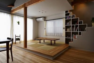 和室 (キッチンからはじまる家族の時間 ~LDKを2階に移動し、勾配天井で広がりのある くつろぎ空間に~)
