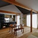 キッチンからはじまる家族の時間 ~LDKを2階に移動し、勾配天井で広がりのある くつろぎ空間に~