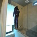 稲村ガ崎の海を望めるサーファーズハウスの写真 造作浴室