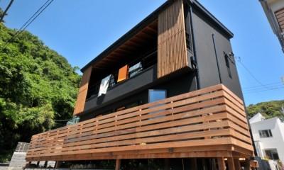 稲村ガ崎の海を望めるサーファーズハウス