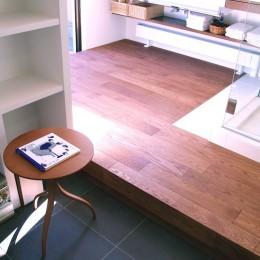 hippo_光ふりそそぐガラス張りの浴室を2階に (洗面所)