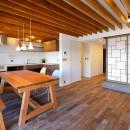関町の家「around a table」の写真 LDK