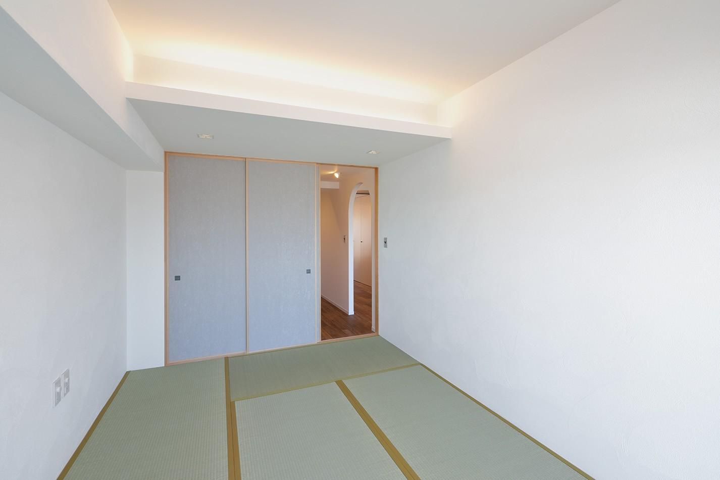 ベッドルーム事例:寝室(関町の家「around a table」)