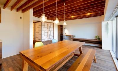 関町の家「around a table」 (LDK  ダイニングテーブル)
