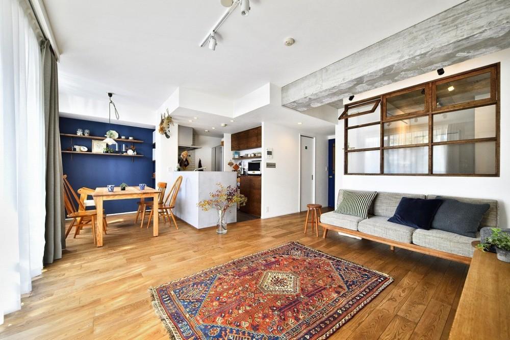 スタイル工房「大きな室内窓がポイント!部屋も家族もゆるくつながる家」