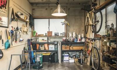岐阜市O様邸 | BRAND NEW DAY-ヴィンテージ小物と暮らす家- (ファクトリーな作業場)