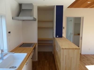 キッチン (車と暮らす家―大好きな車たちに囲まれながら日常を離れてくつろぐ為のガレージハウス―)
