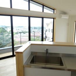 コアジロハウス 住戸A―眺望を最大限に生かした共同住宅ー