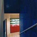 ベネチアンスタッコ壁を施工した階段室