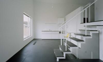 ワンルームの家 (リビングルーム(中2階))