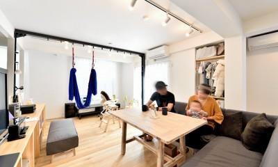 アウトドア&鉄骨フラットアーチ造作! リノベーションでハンモックのある暮らし