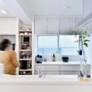 アウトドア&鉄骨フラットアーチ造作! リノベーションでハンモックのある暮らしの写真 キッチン