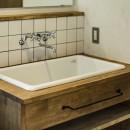 岐阜市K様邸~懐かしくて、どこか新しい昔の木造校舎のような家~の写真 オリジナル洗面台