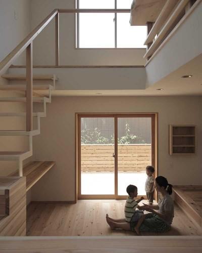 リビング (木づくりの家)